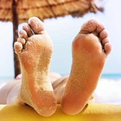 Geaarde voeten