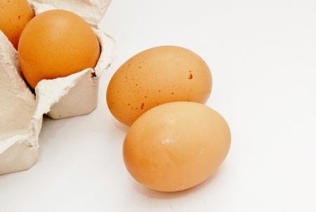 Eieren vol met cholesterol