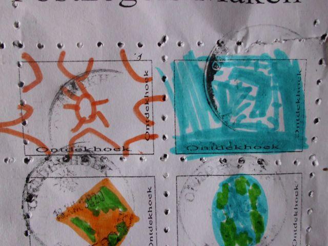 Postzegel maken in de ontdekhoek