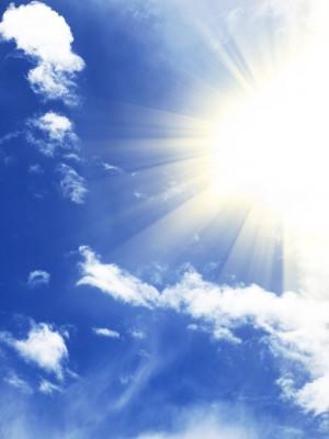 De zon zonder bril