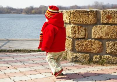 Mijn oog ziet een rode jas
